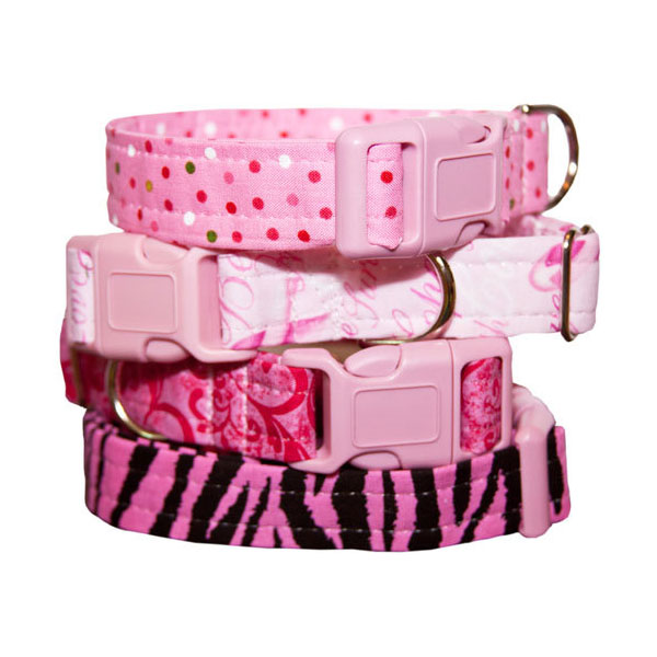 cotton dog collars by Little Barks